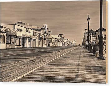 Boardwalk Wood Print by John Loreaux