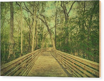 Wood Print featuring the photograph Boardwalk by Lewis Mann