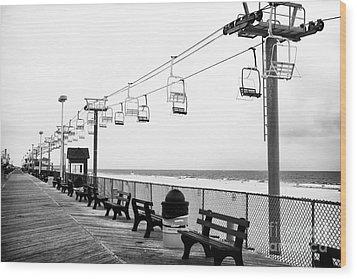 Boardwalk Ride Wood Print by John Rizzuto