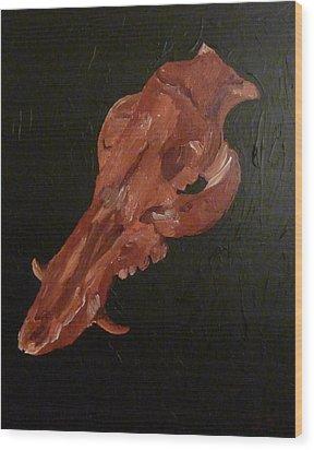 Boar's Skull No. 1 Wood Print
