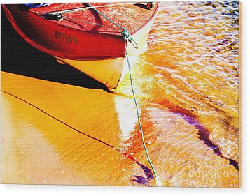 Boat Abstract Wood Print by Avalon Fine Art Photography