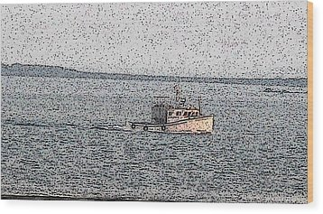 Boat City  Wood Print by Roger Charlebois