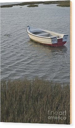 Boat In Ria Formosa - Faro Wood Print by Angelo DeVal