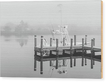 Wood Print featuring the photograph Boat In The Sounds Alabama  by John McGraw