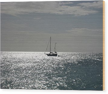 Boat  Wood Print by Michael Albright