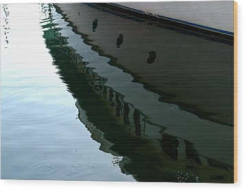 Boat  Reflection - Image 2 - Ver. 2 Wood Print