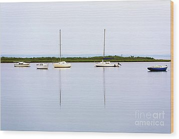 Boat Reflections Wood Print by John Rizzuto