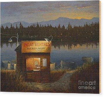 Boat Rentals Wood Print