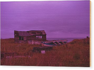 Boat Shed Blues Wood Print by Stuart Parnell