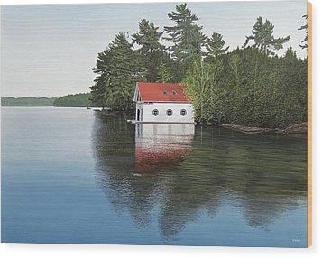 Boathouse Wood Print