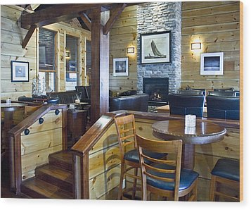 Boathouse Restaurant Wood Print by Michael Rutland