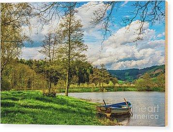Boating On Golden Pond 254  Wood Print