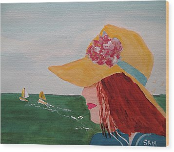 Wood Print featuring the painting Boating by Sandy McIntire