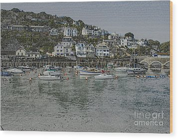 Wood Print featuring the photograph Boats At Looe by Brian Roscorla