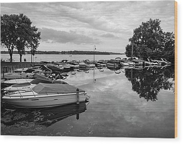 Boats At Wayzata Wood Print
