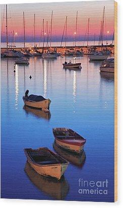 Wood Print featuring the photograph Boats by Bernardo Galmarini
