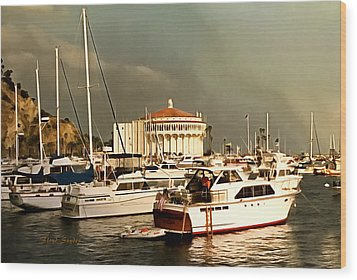 Wood Print featuring the photograph Boats Catalina Island California by Floyd Snyder