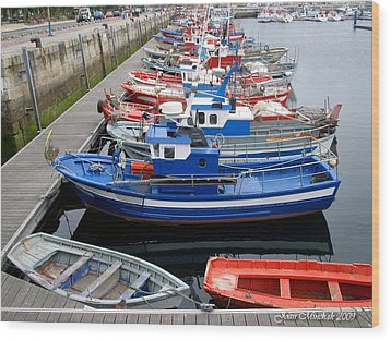 Wood Print featuring the photograph Boats In Norway by Joan  Minchak