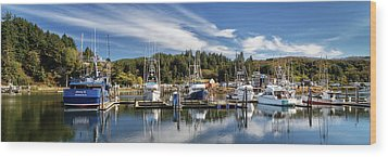 Wood Print featuring the photograph Boats In Winchester Bay by James Eddy