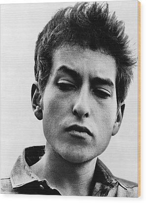 Bob Dylan B. 1941 Informal Portrait Wood Print by Everett