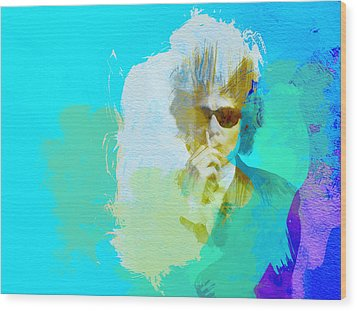 Bob Dylan Wood Print by Naxart Studio