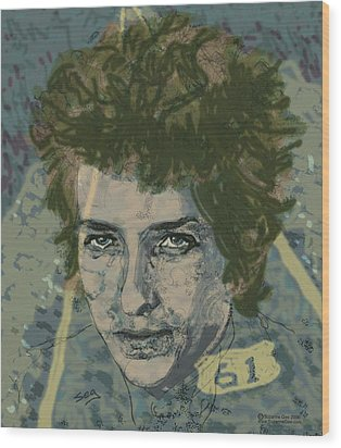 Bob Dylan's Highway 61 Wood Print by Suzanne Gee