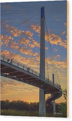 Bob Kerry Bridge At Sunrise Wood Print
