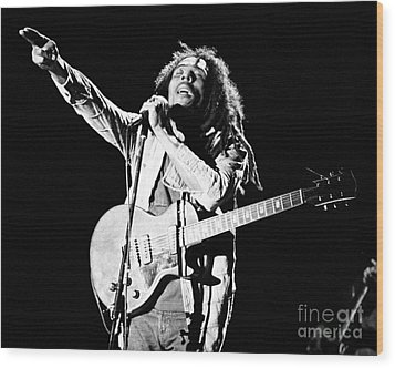 Bob Marley 1978 Wood Print by Chris Walter
