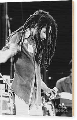 Bob Marley 1979 Dreads Wood Print by Chris Walter