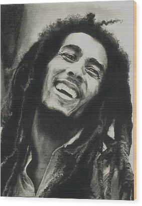 Bob Marley Wood Print by Dan Lamperd