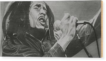 Bob Marley Wood Print by Don Medina