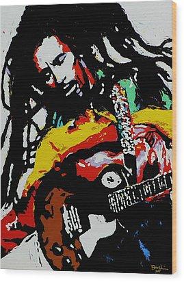 Bob Marley Wood Print by Eddie Lim