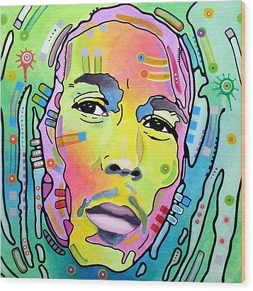 Bob Marley I Wood Print by Dean Russo