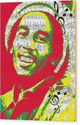 Bob Marley Musical Legend Wood Print by Brad Scott