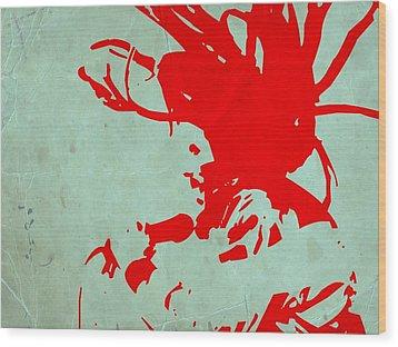 Bob Marley Red Wood Print by Naxart Studio