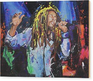 Bob Marley Wood Print by Richard Day
