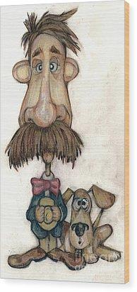 Bobblehead No 31 Wood Print by Edward Ruth