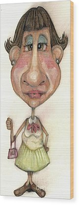 Bobblehead No 33 Wood Print by Edward Ruth