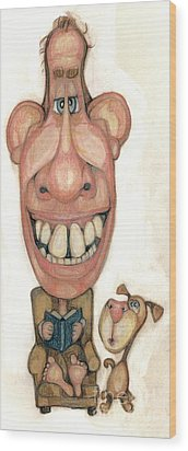 Bobblehead No 42 Wood Print by Edward Ruth