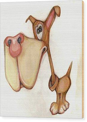 Bobblehead No 58 Wood Print by Edward Ruth