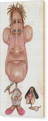 Bobblehead No 71 Wood Print by Edward Ruth