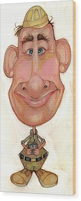 Bobblehead No 72 Wood Print by Edward Ruth