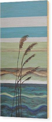 Bob's Beach Wood Print