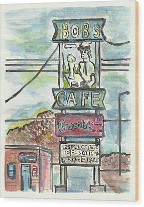 Bob's Cafe Wood Print by Matt Gaudian