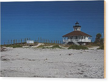 Wood Print featuring the photograph Boca Grande Lighthouse Ix by Michiale Schneider