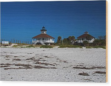 Wood Print featuring the photograph Boca Grande Lighthouse X by Michiale Schneider