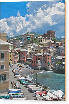 Boccadasse 2-genova, Italy Wood Print