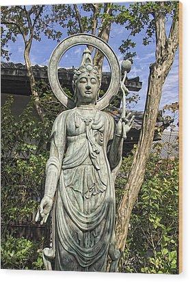 Boddhisattva Buddhist Deity - Kyoto Japan Wood Print by Daniel Hagerman