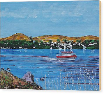 Bodega Bay From Campbell Cove Wood Print