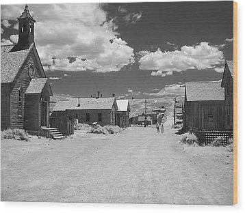 Bodie A Ghost Town Infrared  Wood Print by Christine Till